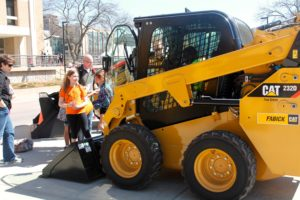 CAT excavator at EXPO photo